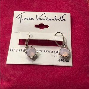 Gloria Vanderbilt Swarovski crystal earrings.NWT